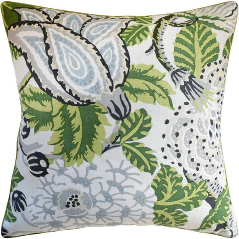 Green and Yellow Pillows at Fig Linens and Home