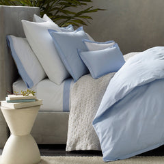 Fig Linens and Home - Matouk Luxury Bedding - Luca Satin Stitch Sheets