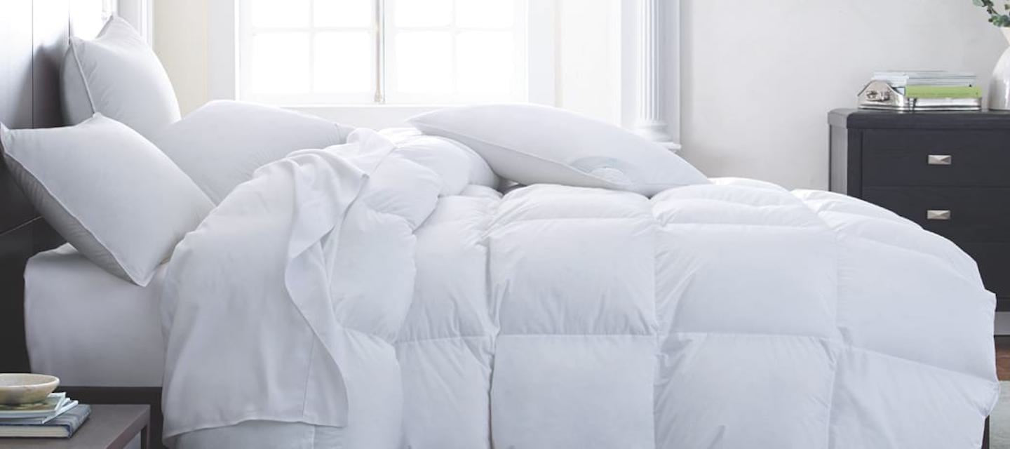Down Comforters and Pillows at Fig Linens and Home