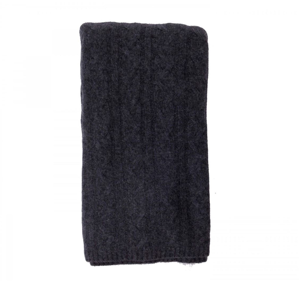 100% Cashmere Throw - Graphite - 256