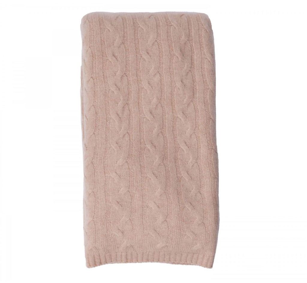 100% Cashmere Throw - Mongolian Cream 451