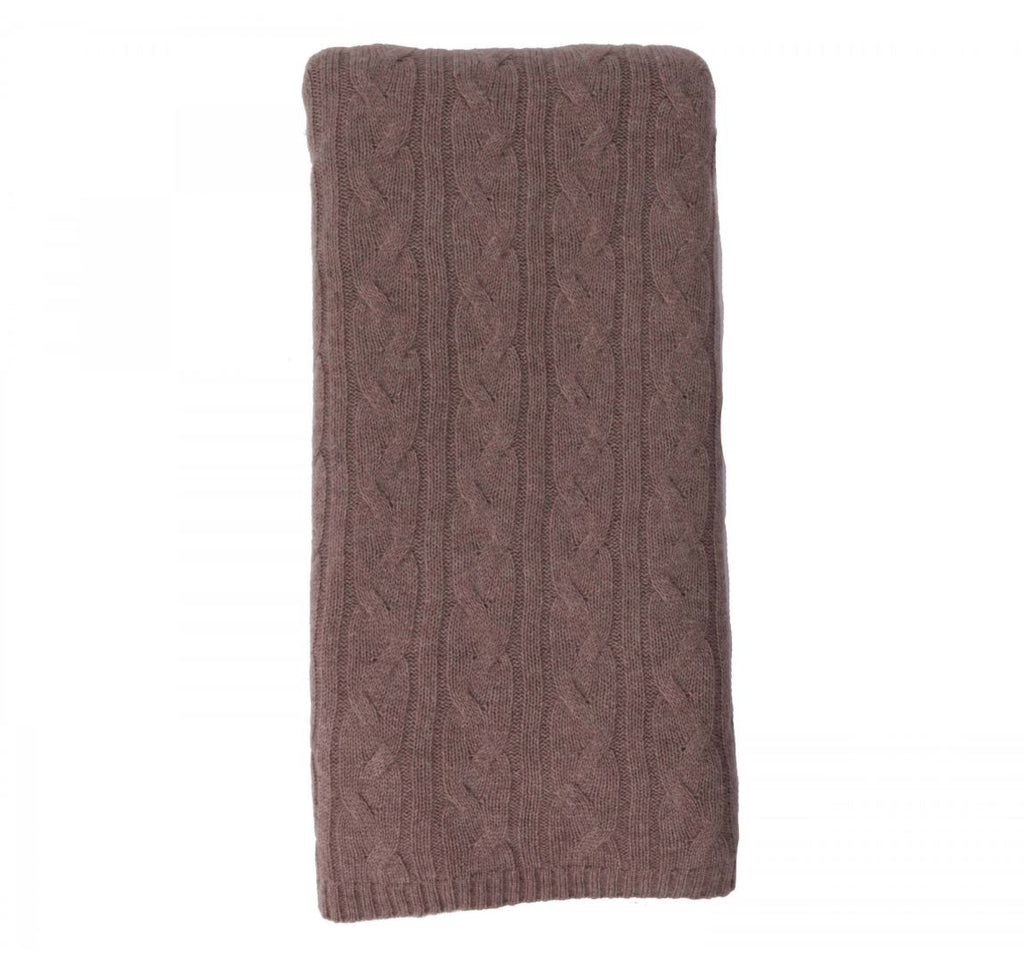 100% Cashmere Throw - Natural 352