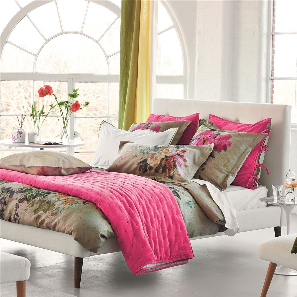 Aubriet Fuchsia duvets and Shams  - Designers Guild