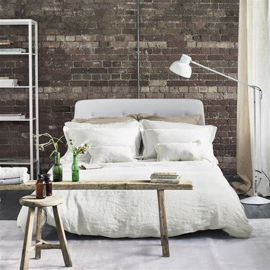 Biella Ivory Bedding by Designers Guild | 100% Linen Sheets & Duvets