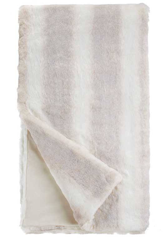 Iced Mink Faux Fur - Couture Throw Blanket