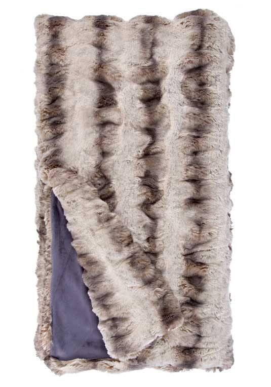 Truffle chinchilla couture faux fur throw