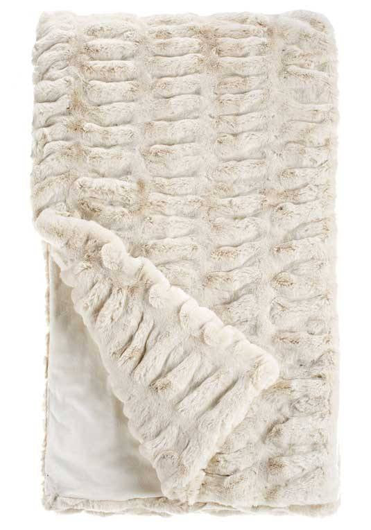 Ivory Mink Couture Faux Fur Throw