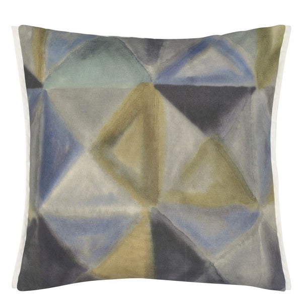Bougival Outdoor Zinc Decorative Pillow - Front - Clearance at Fig Linens