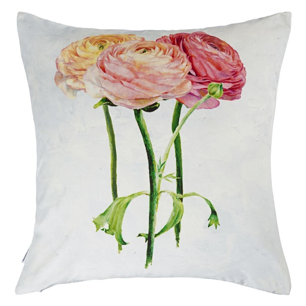 Tourangelle Coral Decorative Pillow - Fig Linens - Reverse Image