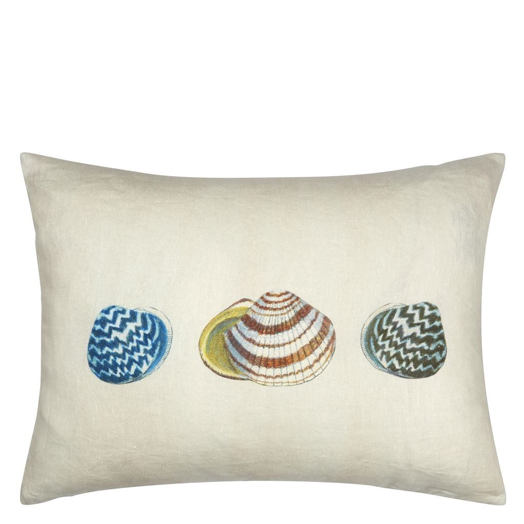 John Derian -Sea Life Coral Decorative Pillow - reverse
