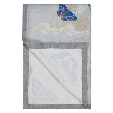 Mirrored Butterflies Sky Throw at Fig Linens