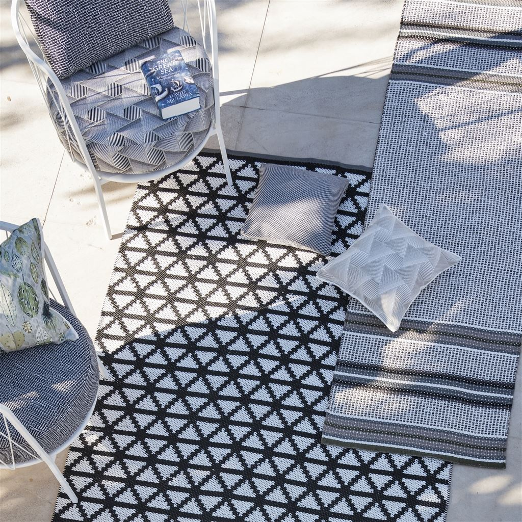 Designers Guild Floor Rugs at Fig Linens - Delray Noir