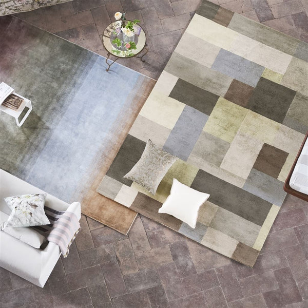 Overview - Barchessa Slate Rugs - Designers Guild Floor Rug