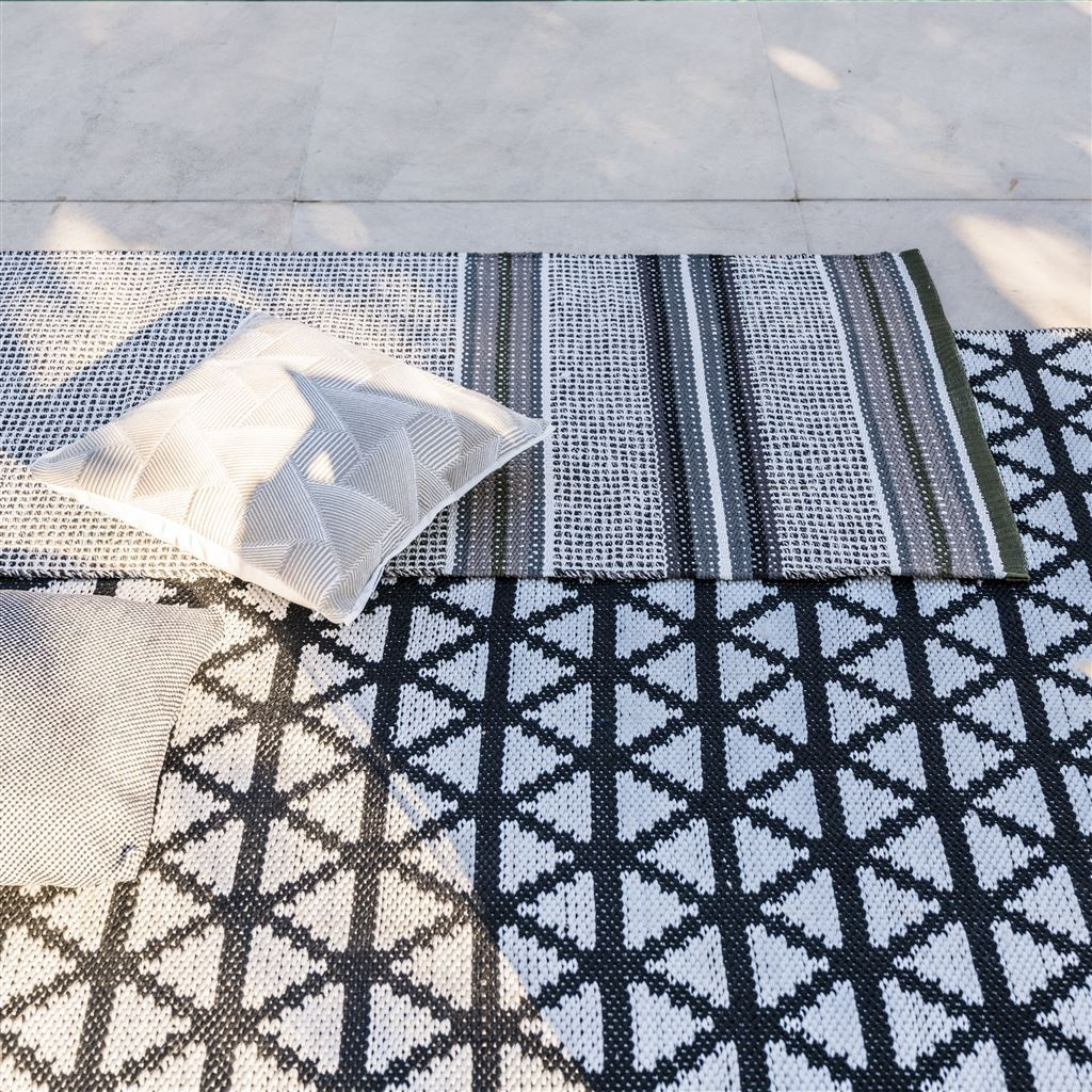 Delray Noir Floor Rug at Fig Linens