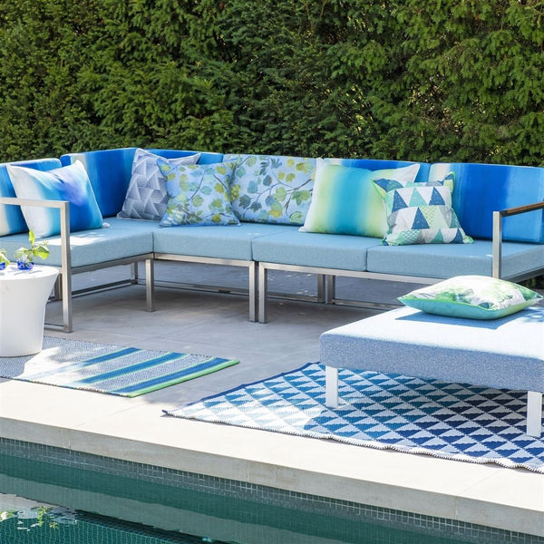 Designers Guild Biscayne Cobalt Rug - Indoor / Outdoor Rugs
