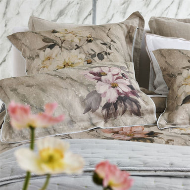 Designers Guild Carrara Fiore Cameo Shams Detail | Fig Linens