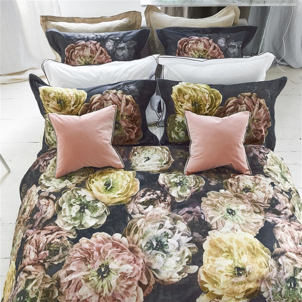 Designers Guild Le Poeme De Fleurs Midnight Bedding | Fig Linens and Home