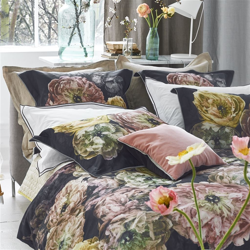Designers Guild Le Poeme De Fleurs Midnight  - Pillows and Decor