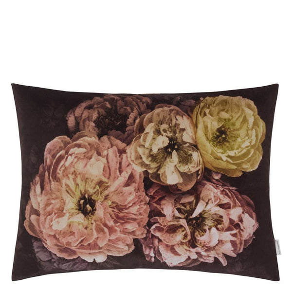 Sale Pillow - Designers Guild Le Poeme de Fleurs Rosewood Decorative Pillow at Fig Linens