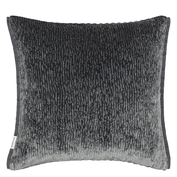 Portland Graphite Decorative Pillow | Solid Reverse