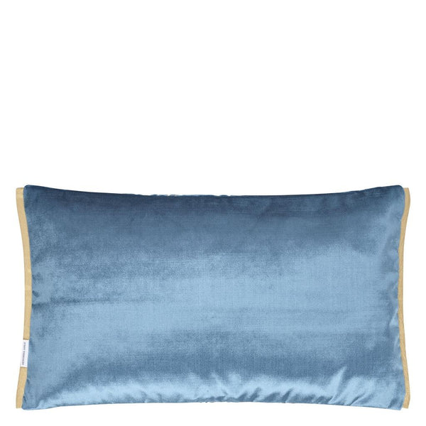 Designers Guild Fitzrovia Cerulean Pillow - Reverse to Satin