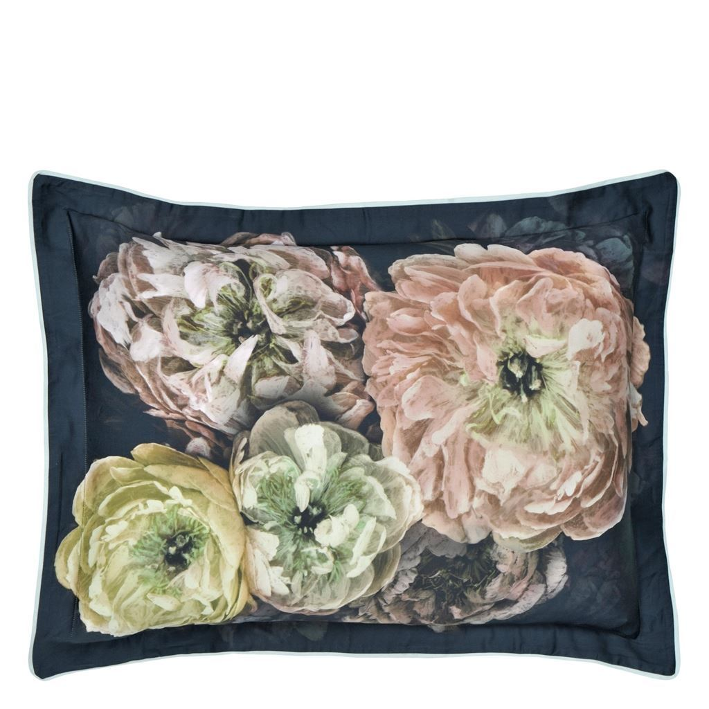Le Poeme De Fleurs Midnight Queen Sham | Fig Linens