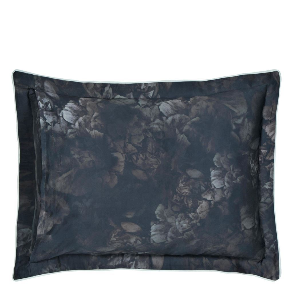 Le Poeme De Fleurs Midnight - Pillow shams reverse