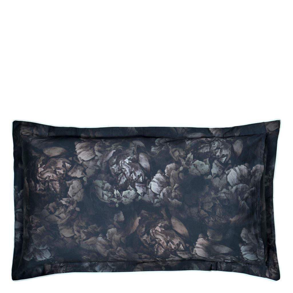 Designers Guild Le Poeme De Fleurs Midnight - Pillow reverse