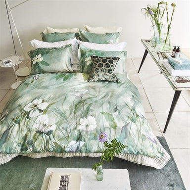Designers Guild Kiyosumi Celadon Bedding - Duvets & Shams at Fig Linens