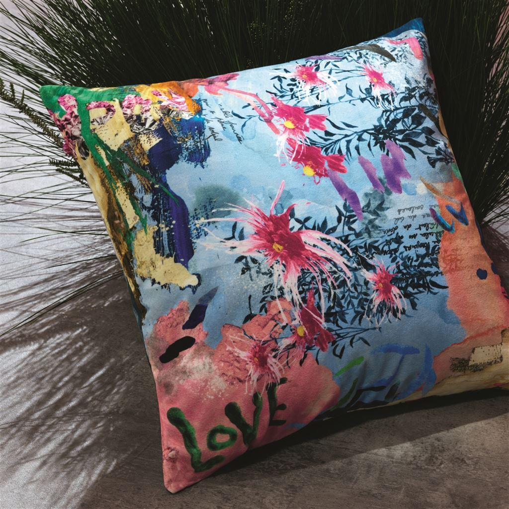 Christian Lacroix L'herbier Ruisseau Pillow | Designers Guild Cushion