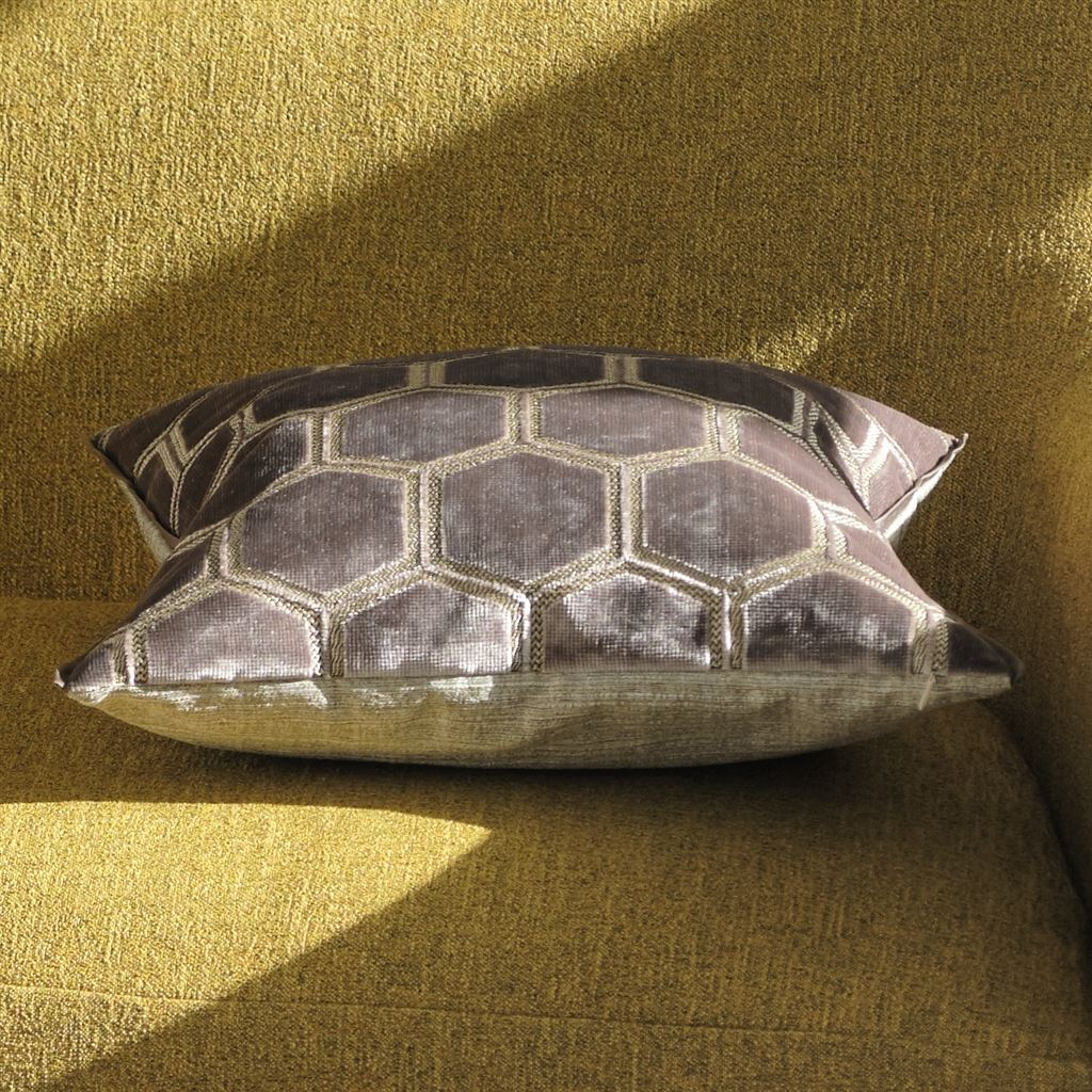 Designers Guild Manipur Amethyst Pillow in Sunlight