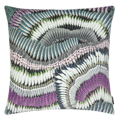 Prete-moi ta Plume! Magenta Decorative Pillow | Christian Lacroix Front