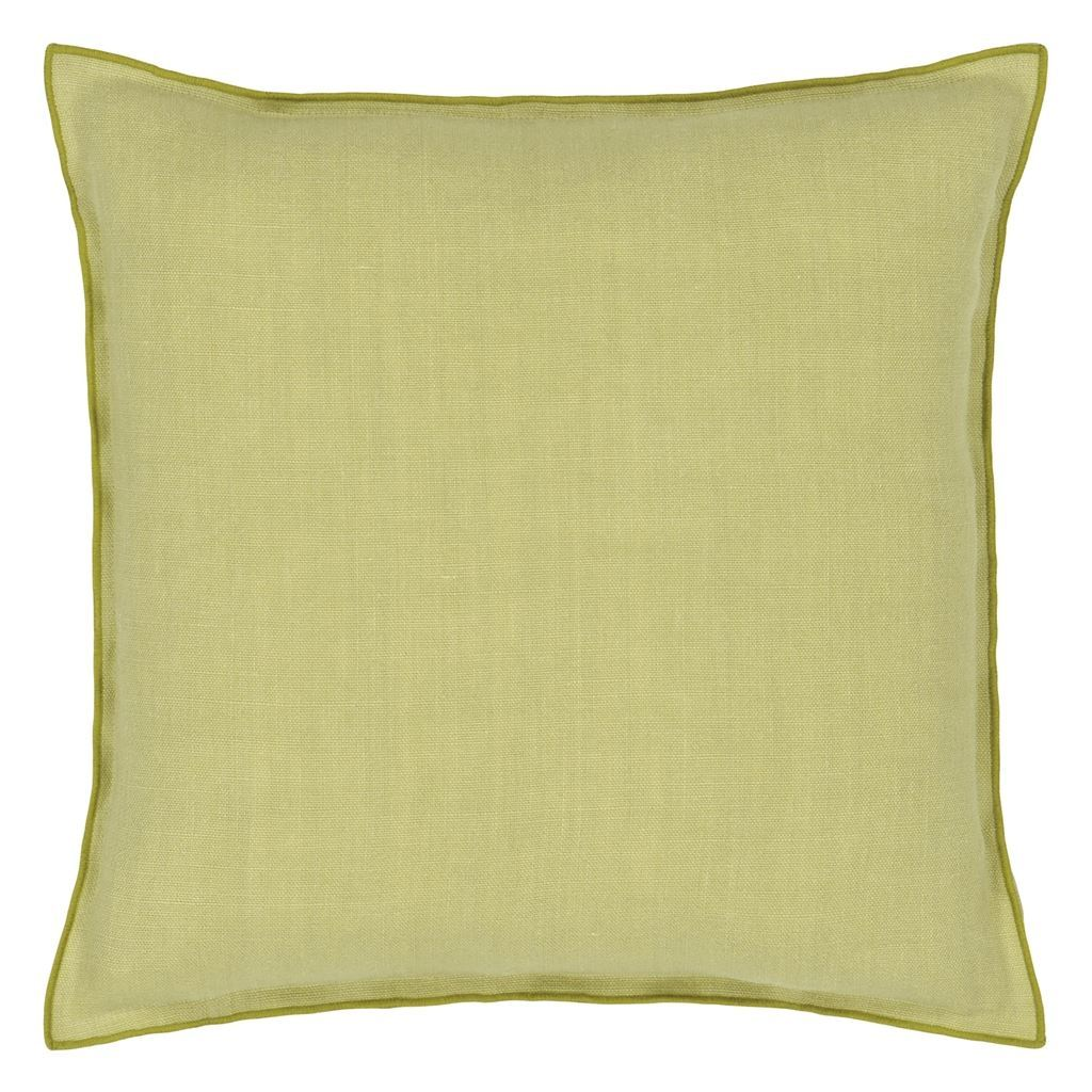 Brera Lino Pistachio & Moss Decorative Pillow | Designers Guild at Fig Linens