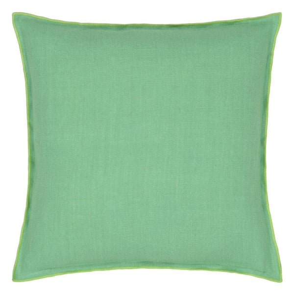 Brera Lino Verdigris & Apple Decorative Pillow | Designers Guild at Fig Linens