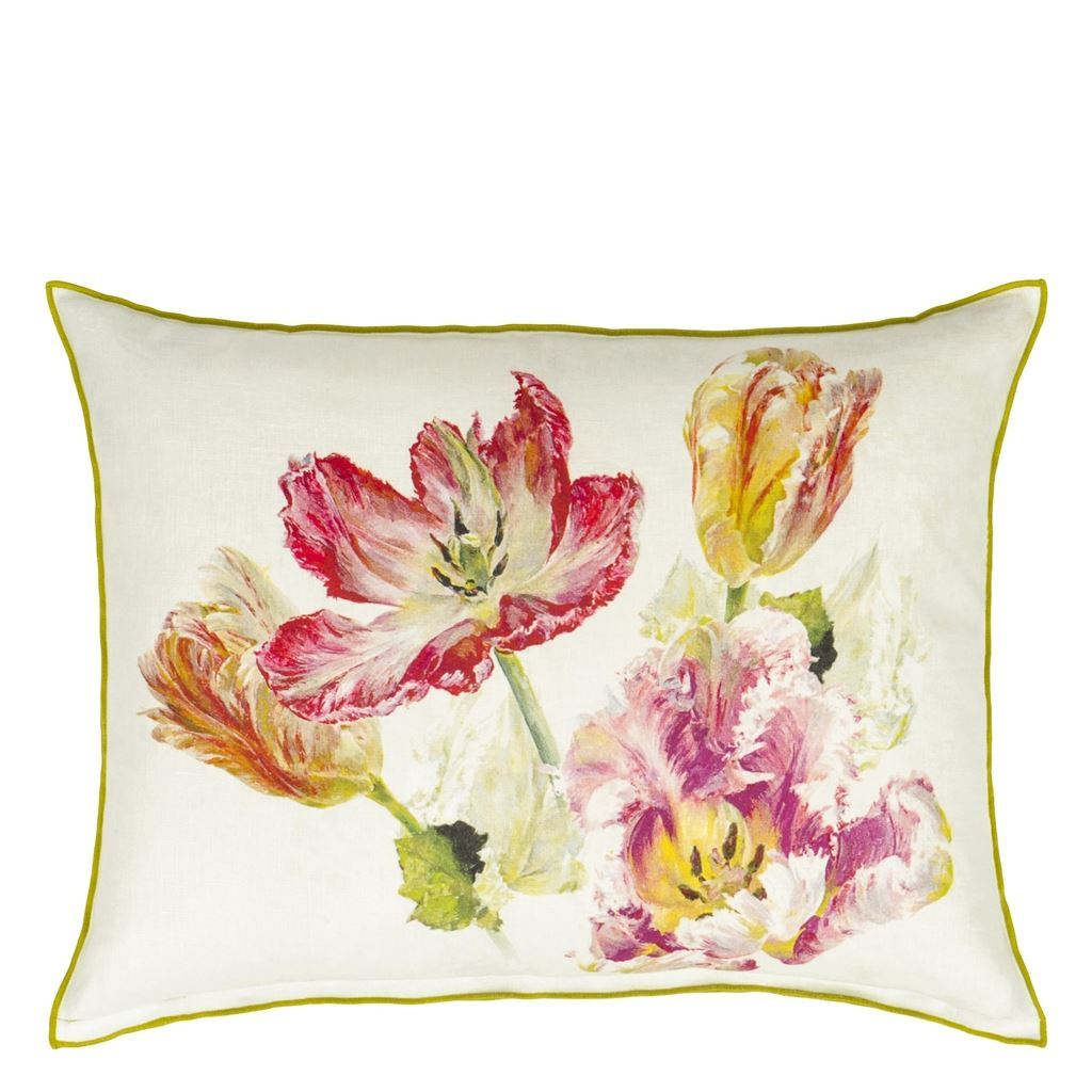 Designers Guild Spring Tulip Buttermilk Decorative Pillow