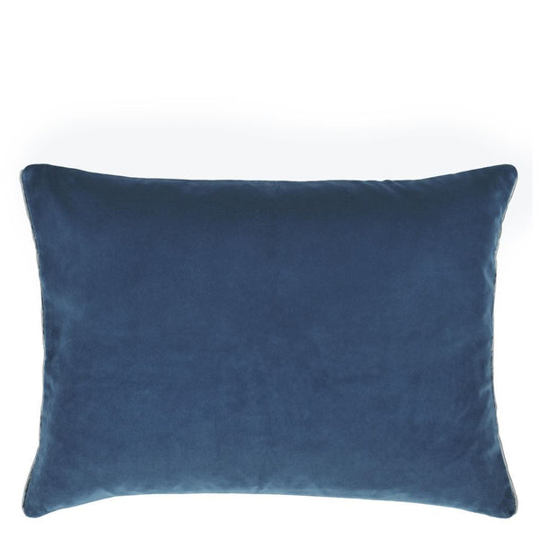 Cassia Prussian & Granite Decorative Pillow by Designers Guild