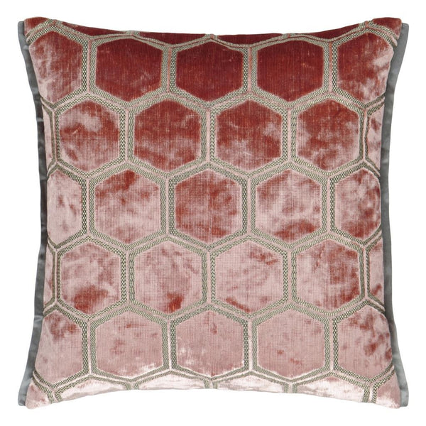 Manipur Coral Decorative Pillow by Designers Guild