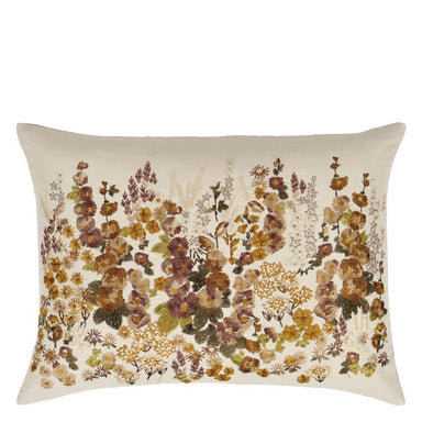 Designers Guild Hollyhock Ochre Cushion | Pillows at Fig Linens