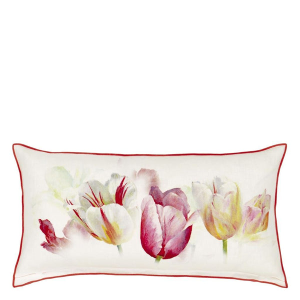 Tulip Garden Azalea Decorative Pillow by Designers Guild
