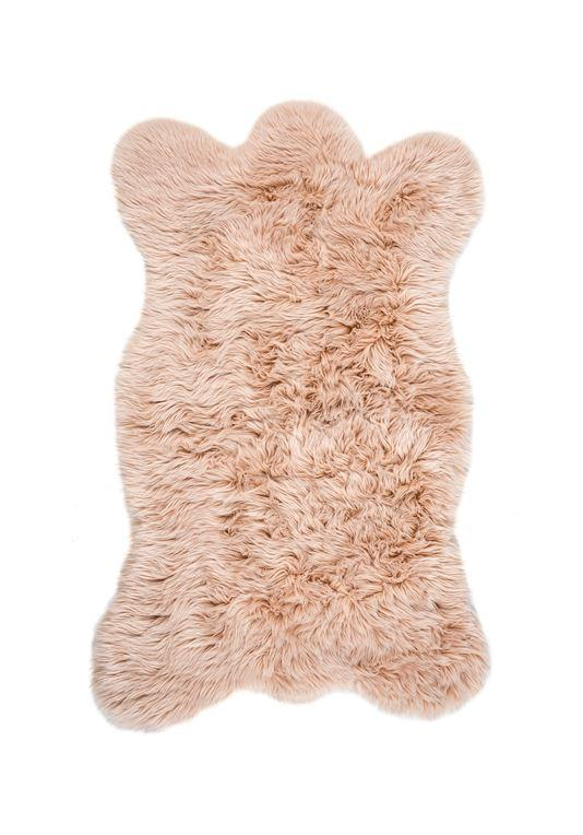 Blush Bear Faux Fur Chair Cover at Fig Linens and Home