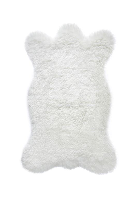 Ivory Bear Faux Fur Chair Cover - Fig Linens