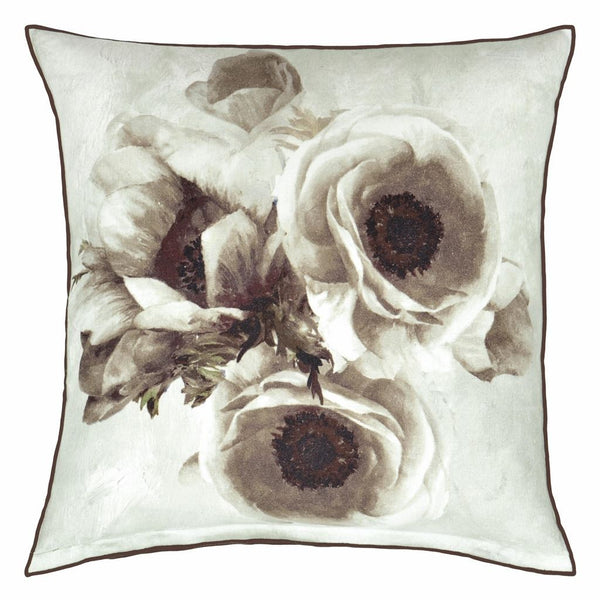 Designers Guild Sepia Flower Birch Decorative Pillow