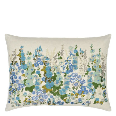 Hollyhock Celadon Cushion | Designers Guild at Fig Linens and Home