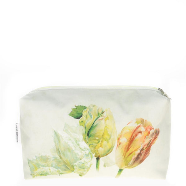 Designers Guild Spring Tulip Buttermilk Medium Toiletry Bag