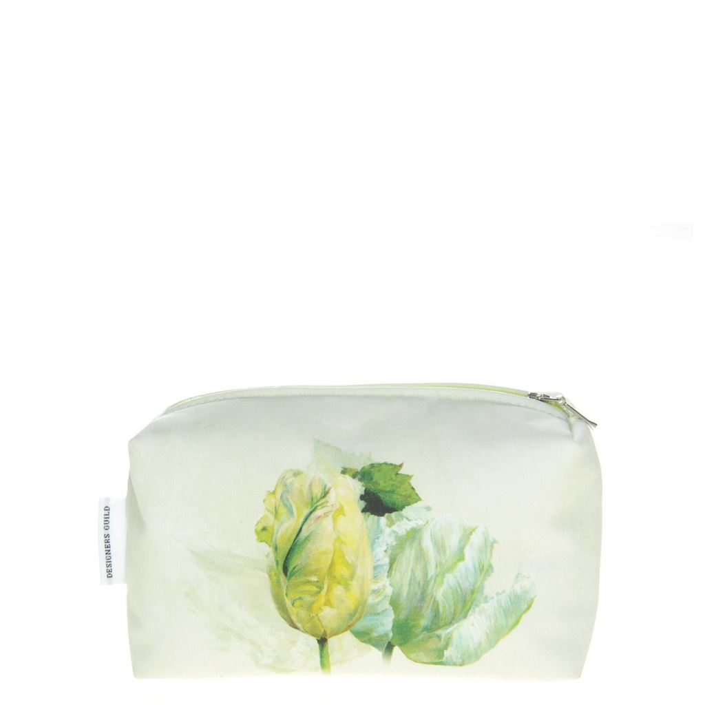 Designers Guild Spring Tulip Buttermilk Small Toiletry Bag - Reverse