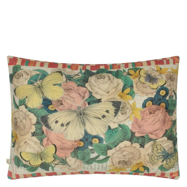 John Derian Garden Fantasy Fuchsia Pillow | Designers Guild at Fig Linens