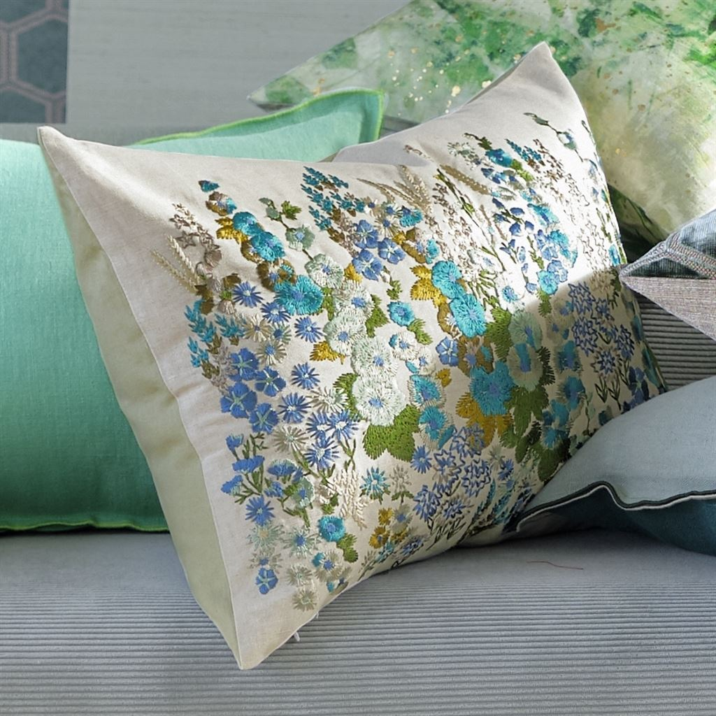 Hollyhock Celadon by Designers Guild | Pillows at Fig Linens