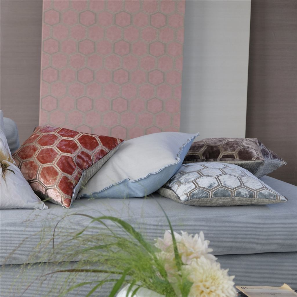 Designers Guild Cushions Lifestyle Image - Brera Lino Sky and Cloud