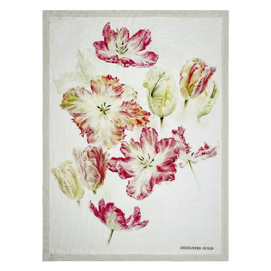 Designers Guild Spring Tulip Buttermilk Throw