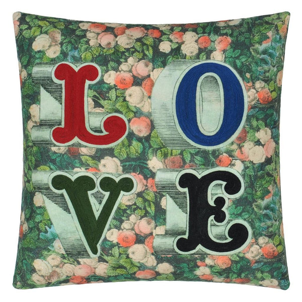 John Derian LOVE Forest Decorative Pillow